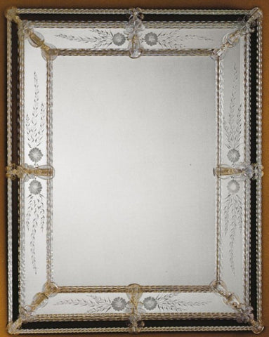 Delicate Hand-Crafted Venetian Wall Mirror