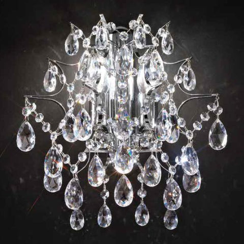 Luxurious Asfour 30% lead crystal wall light in 2 sizes