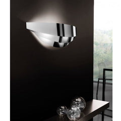 Uriel small chrome wall light from Axo Light