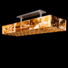 Gold or amber Murano glass kitchen island light