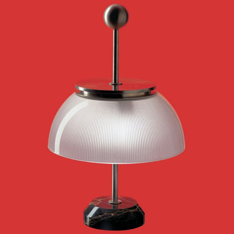 Alfa T modern glass & marble table lamp from Artemide