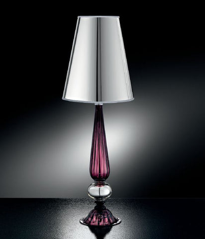 Amethyst Murano glass table lamp