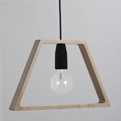 Modern Natural Birch and Coloured Silicon Cable Ceiling Light