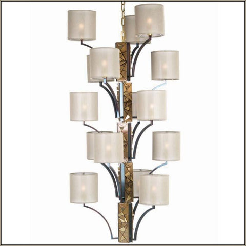 Luxury modern Italian brass chandelier with 15 shades