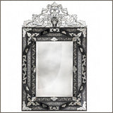 Classic bevelled edge Venetian mirror with black detail