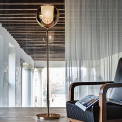 Penta round glass floor lamp