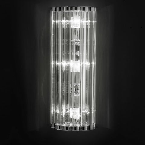 Tall elegant Murano glass wall light