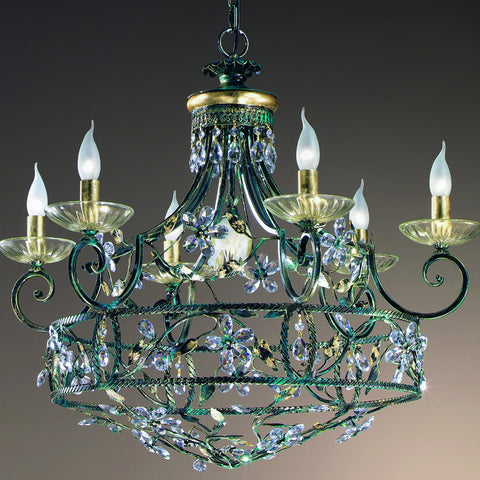 Wrought Iron 7 Light Chandelier