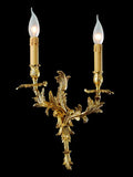 Ornamental and traditional double candle light for wall