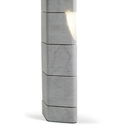 80 cm modern grey Carrara marble outdoor bollard light