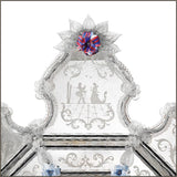 17th century style Venetian mirror with custom colour flowers