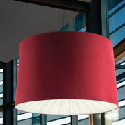 160 cm faux suede pendant light with diffuser in lots of colours