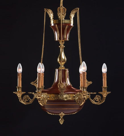 ^ light French gold bowl chandelier