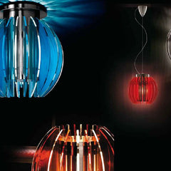 Modern spherical polycarbonate table light