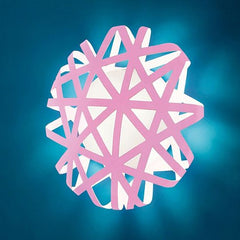 White, pink or turquoise polypropylene wall light