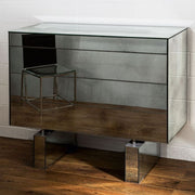 Luxury Venetian mirrored glass chest of drawers