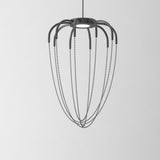 Grey Alysoid 34 pendant by Axo Light with black or brass chains