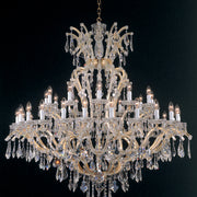 Maria Theresa gold-plated Arlati Swarovski crystal chandelier