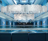 Marea 160 cm white glass ceiling light from Patrizia Volpato