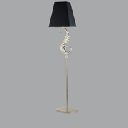 Silver leaf floor lamp with Swarovski Elements crystals
