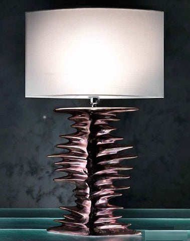 Made to order copper and bronze ceramic table lamp