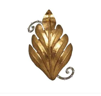 Gold Metal and Swarovski Elements Crystals Leaf-style Sconce