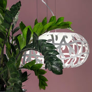 White Maggio metal pendant by Studio Italia Design