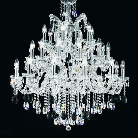 30 Light Crystal Glass Chandelier