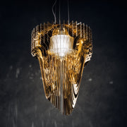 Aria Gold chandelier by Zaha Hadid for Slamp