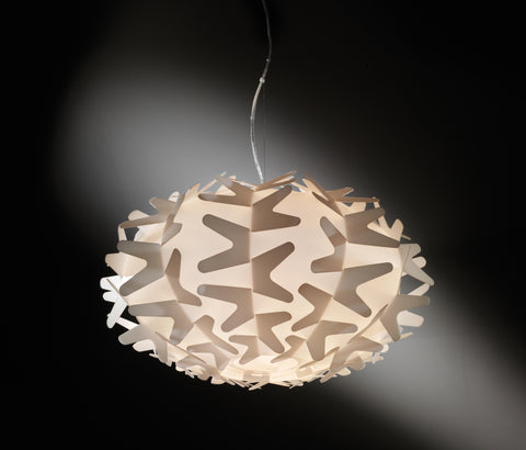 "Easy to clean ""Cactus"" ceiling pendant in a technical shatterproof plastic"