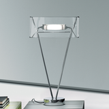 Satin white or clear glass lamp from Leucos