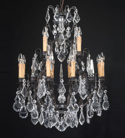 72 cm crystal chandelier with 12 lights