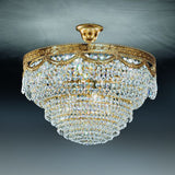 24% lead crystal basket chandelier for low-ceilinged rooms