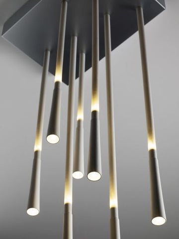 Giunco white metal and fibreglass ceiling light from Fabbian