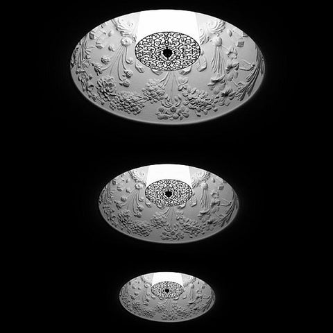 SkyGarden recessed ceiling light with floral frieze from Flos