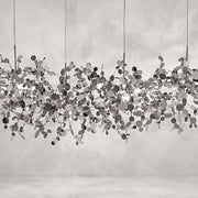 Argent 125 cm silver metal ceiling pendant by Terzani