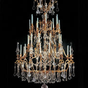 36 Light Luxury French Gold Chandelier