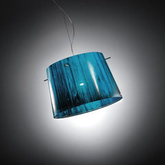 Woody pendant from Slamp with wood print in 4 colours