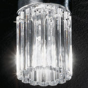 Luxury clear Murano glass flush ceiling light