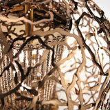Modern filigree table light in 3 metal finishes