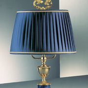 Classic gold-plated table lamp with blue enamel decoration