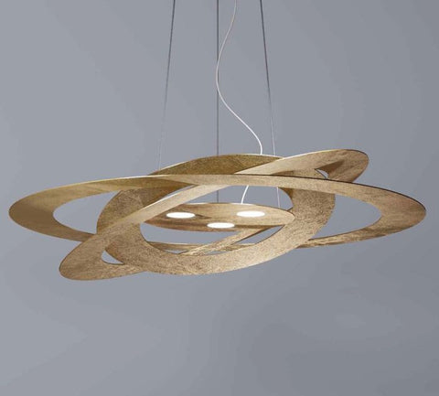 Modern Italian pendant light with 5 metal finishes