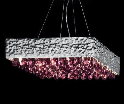 60 cm coloured crystal ceiling light from Italy