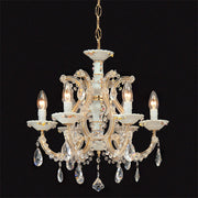 Hand-painted porcelain & crystal Maria Theresa chandelier