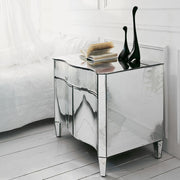 Curved Venetian mirror nightstand in the modernist style