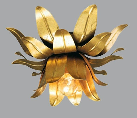 Ceiling Light with Gold Metal Work Leaves