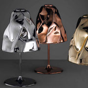 Copper, gold or chromed metallic Murano glass table light