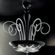 Orleans black glass ceiling pendant by Leucos
