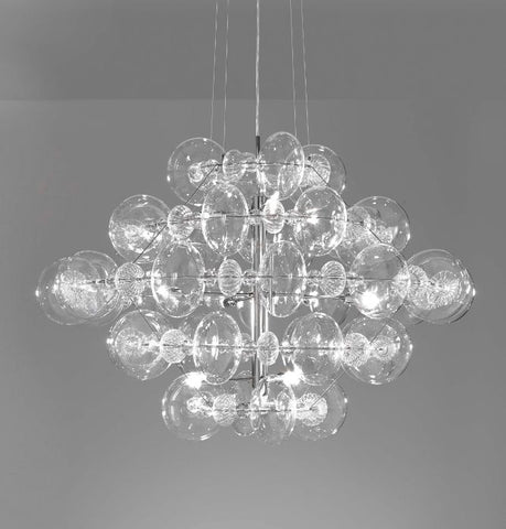 Modern clear and coloured Italian glass pendant light
