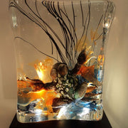 Solid Murano glass aquarium table light